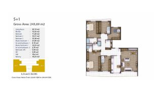 Kocaeli Wohnungen mit Meerblick in einem Komplex mit Pools, Immobilienplaene-9