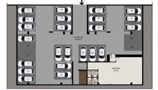 Luxe appartementen verweven met de natuur in Kocaeli, Vloer Plannen-1