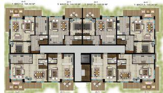 Luxe appartementen verweven met de natuur in Kocaeli, Vloer Plannen-2