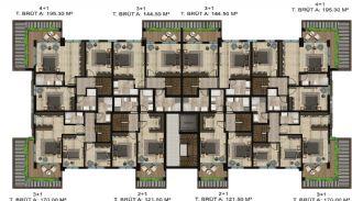 Luxe appartementen verweven met de natuur in Kocaeli, Vloer Plannen-3