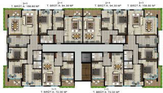 Luxe appartementen verweven met de natuur in Kocaeli, Vloer Plannen-4