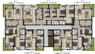 Luxe appartementen verweven met de natuur in Kocaeli, Vloer Plannen-5