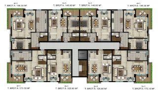 Luxe appartementen verweven met de natuur in Kocaeli, Vloer Plannen-6