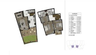 Properties in a Complex with Rich Facilities in Kocaeli, Property Plans-3