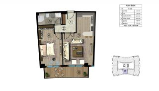 Luxurious Design Flats Surrounded by Nature in Kocaeli, Property Plans-1