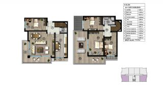 Spacious Modern Apartments Intertwined by Nature in Kocaeli, Property Plans-1