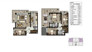Spacious Modern Apartments Intertwined by Nature in Kocaeli, Property Plans-2
