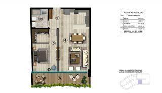 Роскошная Недвижимость в Хорошем Месте в Картепе, Коджаэли, Планировка -2