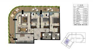 Роскошная Недвижимость в Хорошем Месте в Картепе, Коджаэли, Планировка -11
