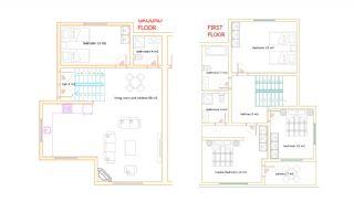Kalkan'da Özel Yüzme Havuzlu Yarı Müstakil Villa, Kat Planları-1