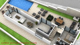 Panoramic Sea View Houses with Private Pool in Kalkan, Property Plans-1
