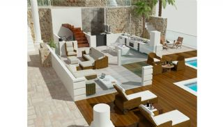 Private Villa in Kalkan with Infinity Pool, Property Plans-1