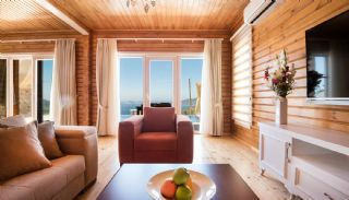 Unique Designed Wooden Villas with Furniture in Kalkan, Interior Photos-3