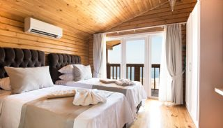 Unique Designed Wooden Villas with Furniture in Kalkan, Interior Photos-13