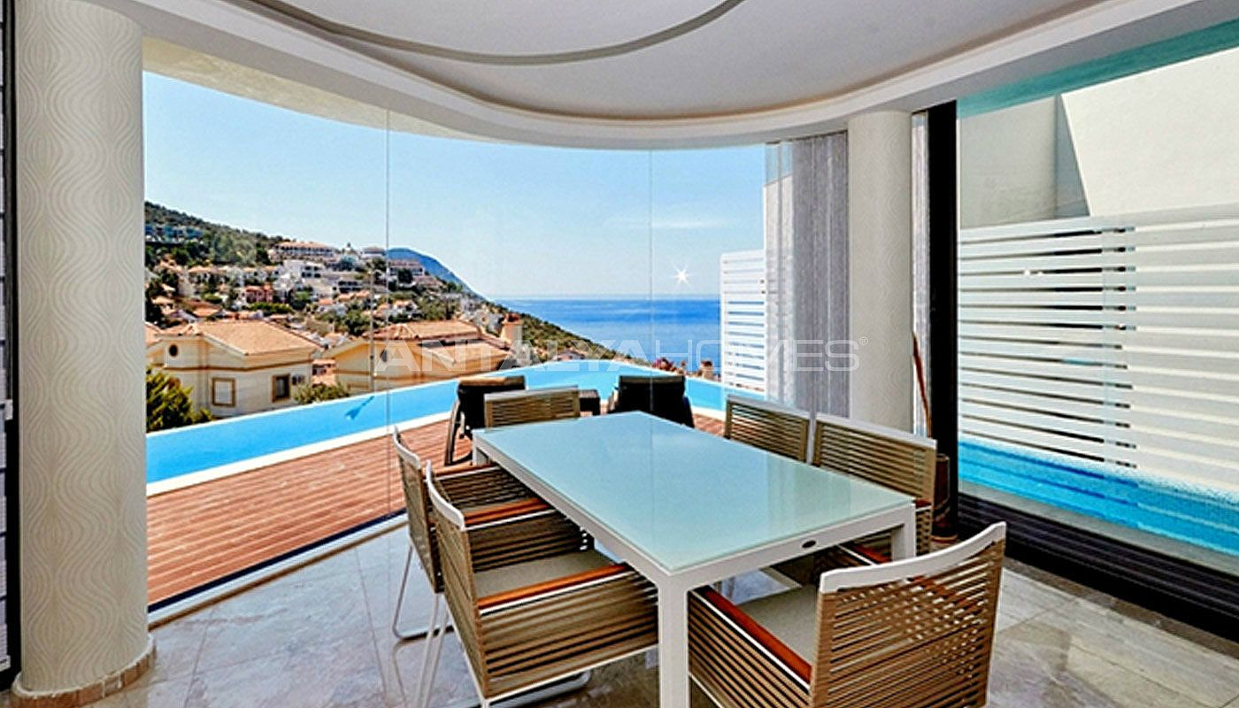 Detached villa with contemporary designed in kalkan for Well designed homes