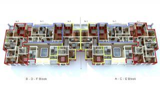 Zeezicht Appartementen in Trabzon, Vloer Plannen-1