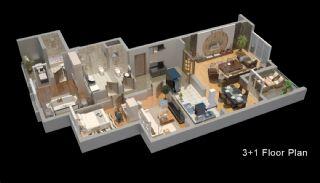 Zeezicht Appartementen in Trabzon, Vloer Plannen-3