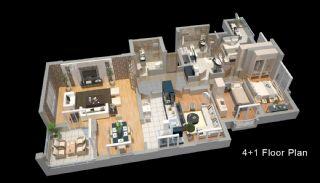 Zeezicht Appartementen in Trabzon, Vloer Plannen-4