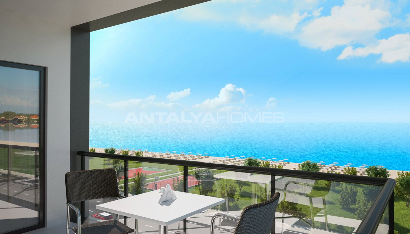 3 bedroom trabzon apartments for sale with unique sea view