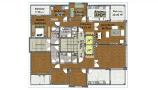 3 Bedroom Apartments in Turkey Trabzon, Property Plans-1