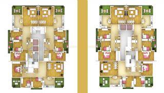 Stora lägenheter i Trabzon med dubbel hiss, Planritningar-1