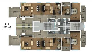 عقارات عالية الجودة في طرابزون بإطلالة بانورامية, مخططات العقار-2