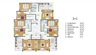 New Flats in Trabzon Close to the Airport, Property Plans-1