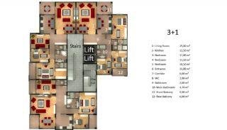 شقق جديدة في طرابزون مع مطبخ منفصل, مخططات العقار-1