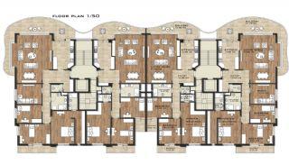 Härliga Lägenheter med Utsikt över Yomra Vik i Trabzon, Planritningar-1