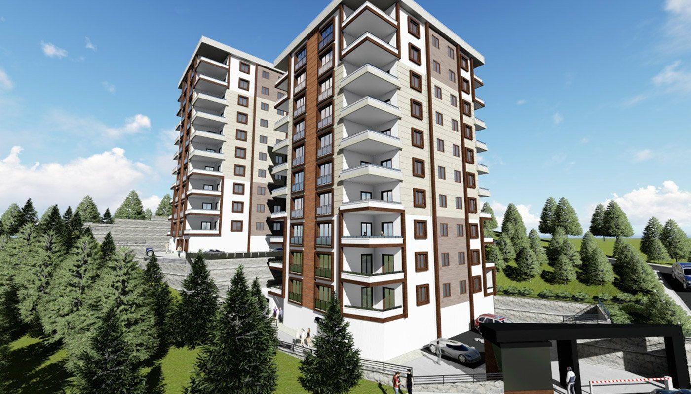 4 Schlafzimmer Wohnungen mit Erdgas in Trabzon, Ortahisar