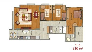 Contemporary Flats with Sea View in Trabzon Ortahisar, Property Plans-2