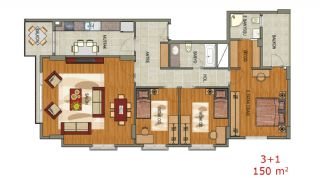 Contemporary Flats with Sea View in Trabzon Ortahisar, Property Plans-3