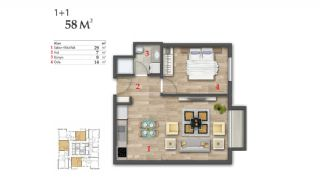 Open Sea View Trabzon Apartments Near Social Facilities, Property Plans-1