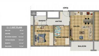 Современные Квартиры в Трабзоне в Благоустроенном Комплексе, Планировка -2