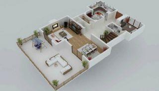 Zee en natuurzicht Trabzon-huizen met privétuinen, Vloer Plannen-1