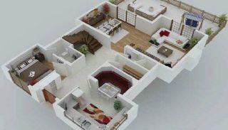 Zee en natuurzicht Trabzon-huizen met privétuinen, Vloer Plannen-2