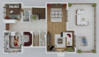 Zee en natuurzicht Trabzon-huizen met privétuinen, Vloer Plannen-3