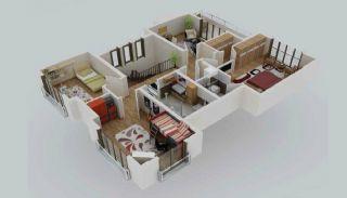 Zee en natuurzicht Trabzon-huizen met privétuinen, Vloer Plannen-4
