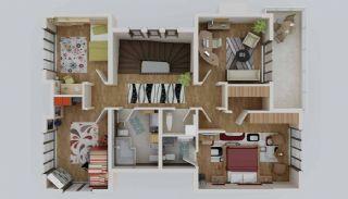 Zee en natuurzicht Trabzon-huizen met privétuinen, Vloer Plannen-6