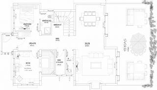 Zee en natuurzicht Trabzon-huizen met privétuinen, Vloer Plannen-8