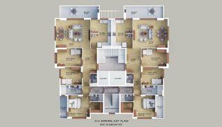 Familjevänliga lägenheter med havsutsikt i Akçaabat Trabzon, Planritningar-1