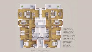 Akçaabat'ta Deniz Manzaralı Aile Konseptinde Sıfır Daireler, Kat Planları-2