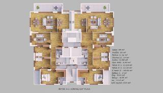Familjevänliga lägenheter med havsutsikt i Akçaabat Trabzon, Planritningar-3