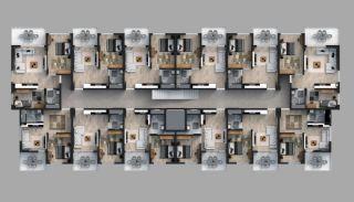 Appartementen in een beveiligd project in Trabzon, Vloer Plannen-2