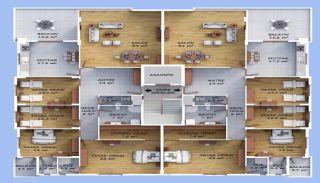 Väl belägna Bostanci-lägenheter med havsutsikt, Planritningar-1