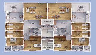 Väl belägna Bostanci-lägenheter med havsutsikt, Planritningar-2