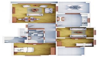 Trabzon Flats in Kaşüstü in a Family Oriented Complex, Property Plans-2
