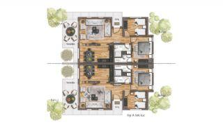 Bursa'da Uludağ'ın Eteklerinde Satılık Tripleks Villalar, Kat Planları-1