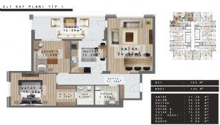 Zentral gelegene Luxus Immobilien Bursa Nilüfer, Immobilienplaene-2