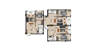 Centrale Appartementen met Ruime Woonruimtes in Bursa, Vloer Plannen-1